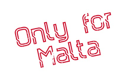 Only For Malta rubber stamp. Grunge design with dust scratches. Effects can be easily removed for a clean, crisp look. Color is easily changed.