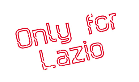Only For Lazio rubber stamp. Grunge design with dust scratches. Effects can be easily removed for a clean, crisp look. Color is easily changed.