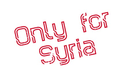 Only For Syria rubber stamp. Grunge design with dust scratches. Effects can be easily removed for a clean, crisp look. Color is easily changed. Illusztráció