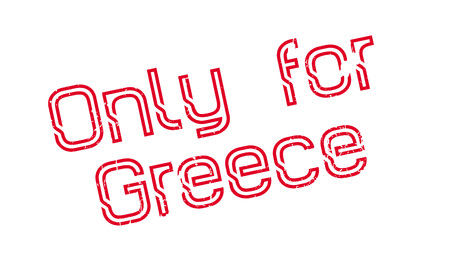 Only For Greece rubber stamp. Grunge design with dust scratches. Effects can be easily removed for a clean, crisp look. Color is easily changed. Stock fotó