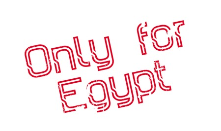 Only For Egypt rubber stamp. Grunge design with dust scratches. Effects can be easily removed for a clean, crisp look. Color is easily changed. Illusztráció