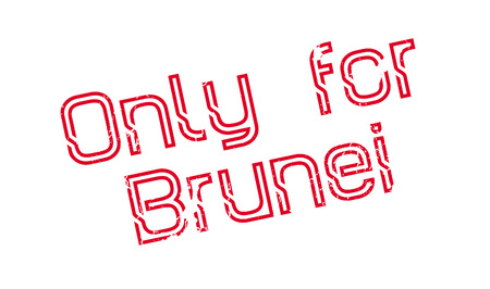 Only For Brunei rubber stamp. Grunge design with dust scratches. Effects can be easily removed for a clean, crisp look. Color is easily changed.