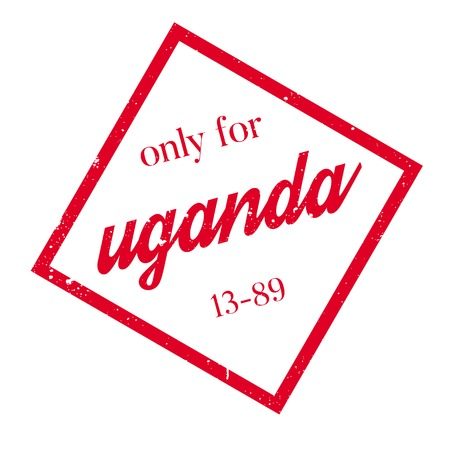 Only For Uganda rubber stamp. Grunge design with dust scratches. Effects can be easily removed for a clean, crisp look. Color is easily changed. Illustration