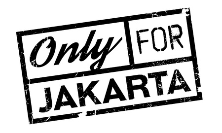 solely: Only For Jakarta rubber stamp. Grunge design with dust scratches. Effects can be easily removed for a clean, crisp look. Color is easily changed.
