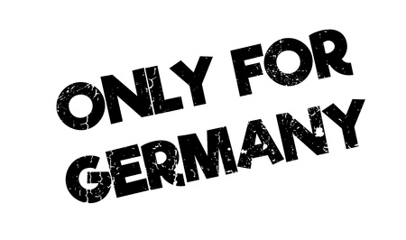 Only For Germany rubber stamp. Grunge design with dust scratches. Effects can be easily removed for a clean, crisp look. Color is easily changed. Illustration