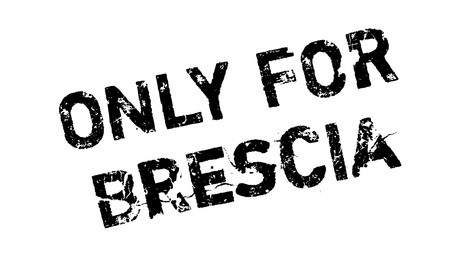 solely: Only For Brescia rubber stamp. Grunge design with dust scratches. Effects can be easily removed for a clean, crisp look. Color is easily changed.
