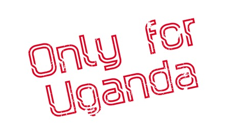 Only For Uganda rubber stamp. Grunge design with dust scratches. Effects can be easily removed for a clean, crisp look. Color is easily changed. Illusztráció