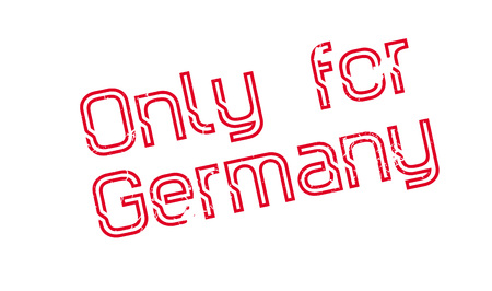 Only For Germany rubber stamp. Grunge design with dust scratches. Effects can be easily removed for a clean, crisp look. Color is easily changed. Illusztráció