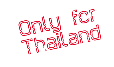 Only For Thailand rubber stamp. Grunge design with dust scratches. Effects can be easily removed for a clean, crisp look. Color is easily changed.