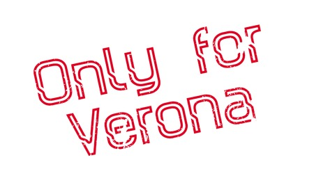 Only For Verona rubber stamp. Grunge design with dust scratches. Effects can be easily removed for a clean, crisp look. Color is easily changed. Illusztráció