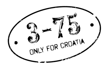purely: Only For Croatia rubber stamp. Grunge design with dust scratches. Effects can be easily removed for a clean, crisp look. Color is easily changed. Illustration