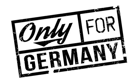 solely: Only For Germany rubber stamp. Grunge design with dust scratches. Effects can be easily removed for a clean, crisp look. Color is easily changed. Illustration