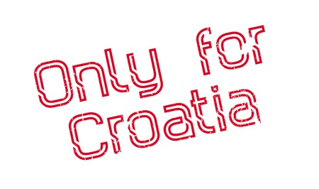 Only For Croatia rubber stamp. Grunge design with dust scratches. Effects can be easily removed for a clean, crisp look. Color is easily changed. Illusztráció