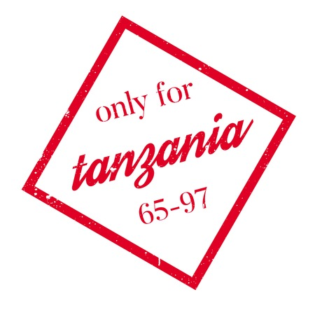 solely: Only For Tanzania rubber stamp. Grunge design with dust scratches. Effects can be easily removed for a clean, crisp look. Color is easily changed. Illustration
