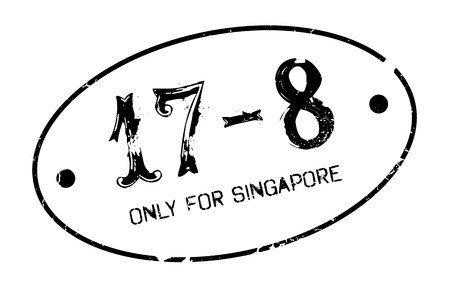 Only For Singapore rubber stamp Illustration