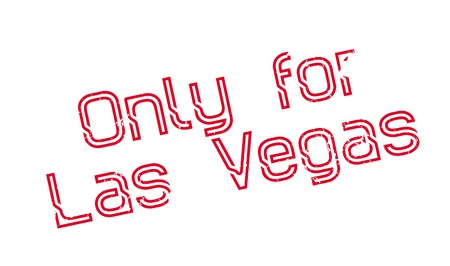 Only For Las Vegas rubber stamp