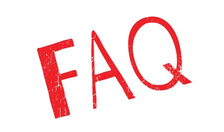 FAQ rubber stamp