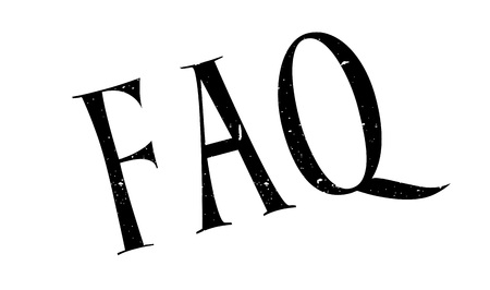 FAQ rubber stamp