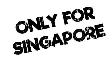 solely: Only For Singapore rubber stamp Illustration