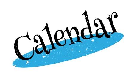 cronologia: Sello de goma del calendario Vectores