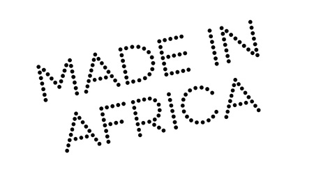 made manufacture manufactured: Made In Africa rubber stamp
