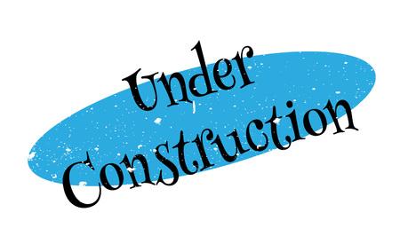 Under Construction rubber stamp