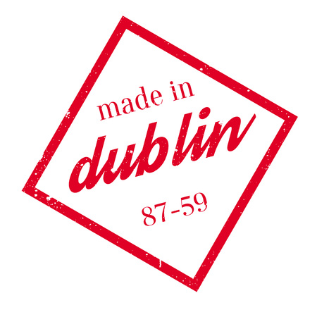 Made In Dublin rubber stamp Illustration