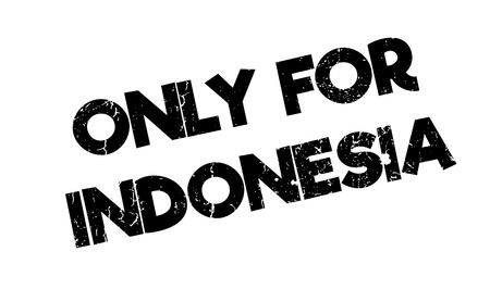 solely: Only For Indonesia rubber stamp