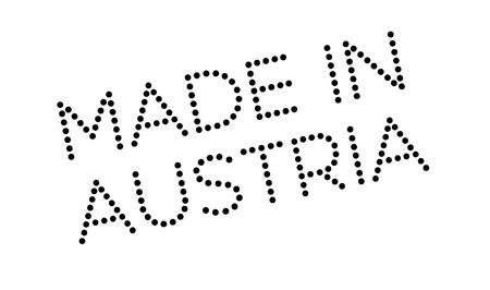 made manufacture manufactured: Made In Austria rubber stamp