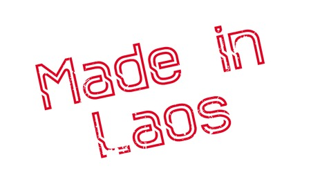 Made In Laos rubber stamp Illustration