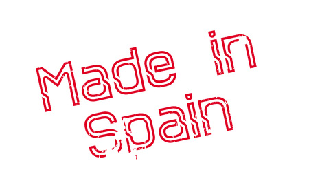 Made In Spain rubber stamp Stock Photo