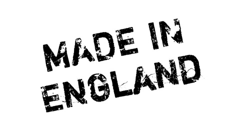 made manufacture manufactured: Made In England rubber stamp Illustration
