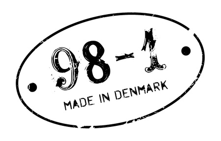 made manufacture manufactured: Made In Denmark rubber stamp