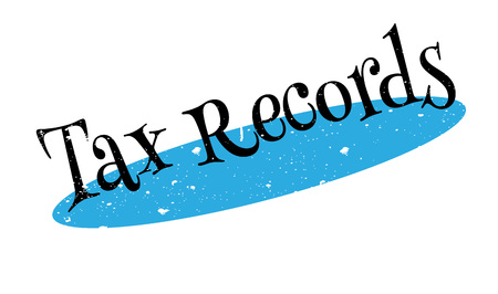 Tax Records rubber stamp Illustration