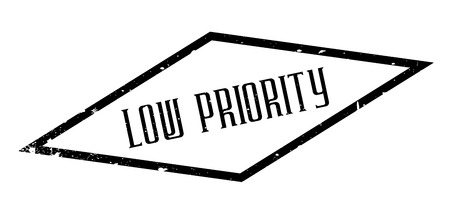 immaterial: Low Priority rubber stamp