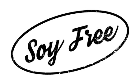 Soy Free rubber stamp