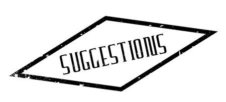 suggestions: Suggestions rubber stamp Illustration