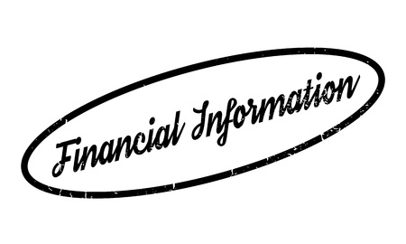 financial advice: Financial Information rubber stamp