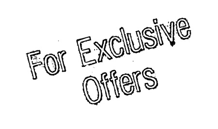 For Exclusive Offers rubber stamp Illustration
