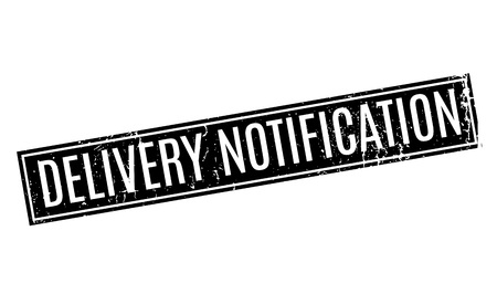 Delivery Notification rubber stamp