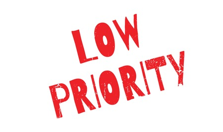 Low Priority rubber stamp