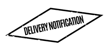 Delivery Notification rubber stamp 向量圖像