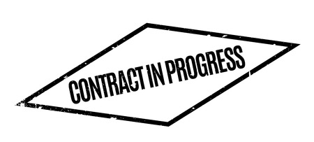 furtherance: Contract In Progress rubber stamp