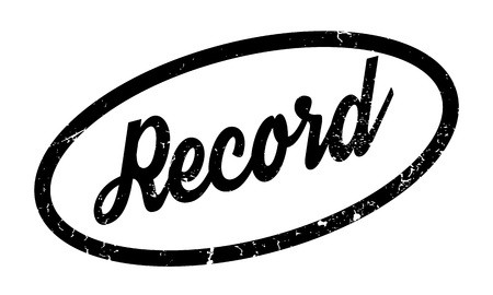 post scripts: Record rubber stamp Illustration