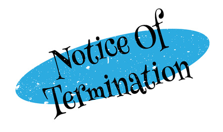 Notice Of Termination rubber stamp