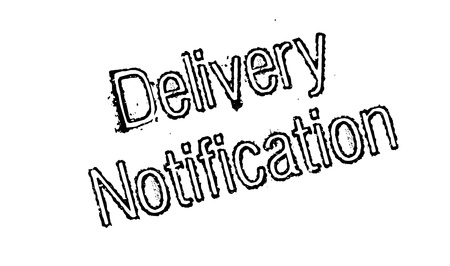 portage: Delivery Notification rubber stamp