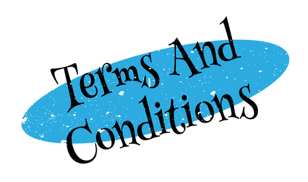 provisions: Terms And Conditions rubber stamp