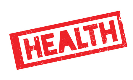 Health rubber stamp Illustration
