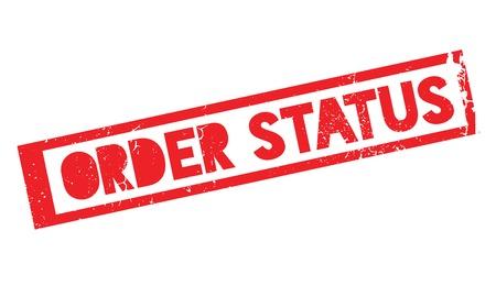 Order Status rubber stamp Imagens - 75380291