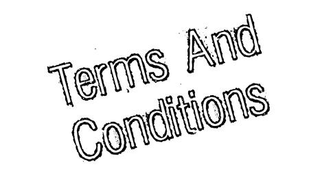 stipulation: Terms And Conditions rubber stamp